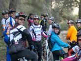Cerca de una veintena de ciclistas participaron en la ruta en bicicleta de montaña desarrollada por la senda del Agua