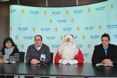 Papá Noel apoyó con su presencia la campaña navideña de comercio en San Javier