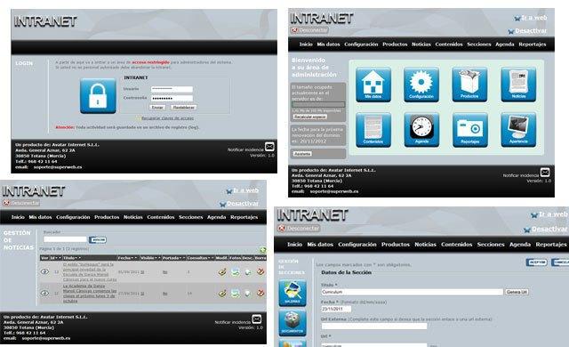 La web es completamente administrable desde una sencilla intranet, Foto 2