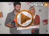 Rueda de prensa IU-verdes Totana. PGOM