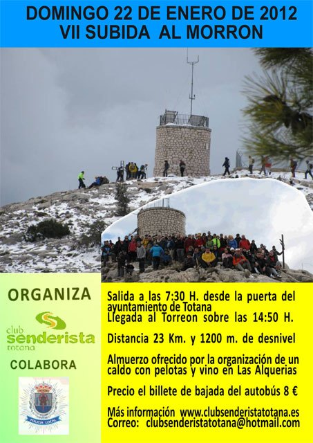 The Ascent of Morrón VII will be held on January 22
