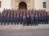 Los alumnos de la Academia General del Aire visitan a la patrona de la ciudad de Murcia
