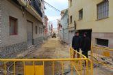 La calle Valeros, incluida en el POS de 2011, est� siendo mejorada lo que provocar� un corte de agua el pr�ximo martes