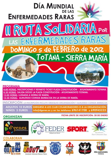 It is the second route solidarity for Rare Diseases