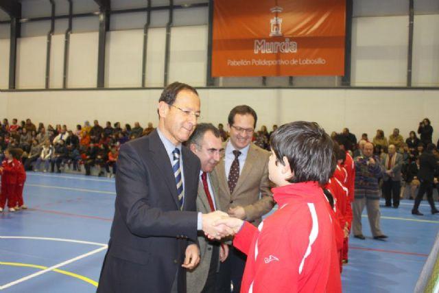 El Alcalde Cámara inaugura en Lobosillo el pabellón deportivo cubierto número 36 del municipio - 1, Foto 1