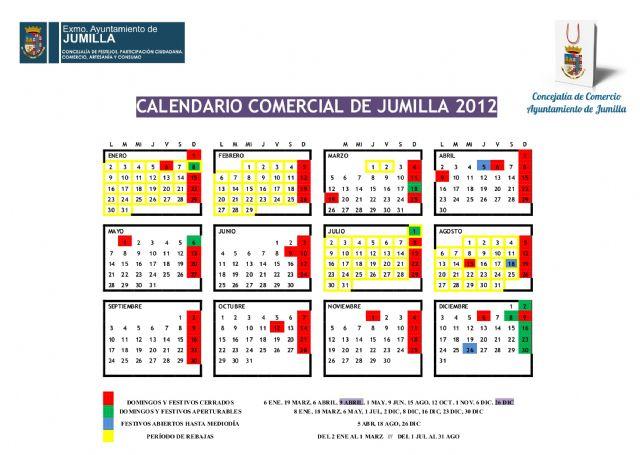 La Concejalía de Comercio ha presentado el calendario comercial 2012 - 1, Foto 1