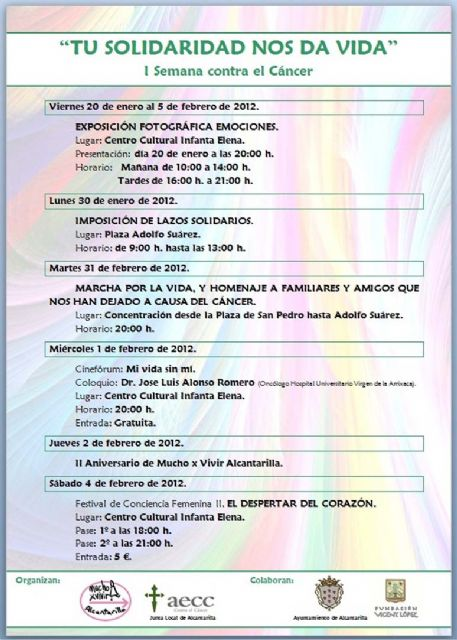 I semana contra el cáncer en Alcantarilla, bajo el lema Tú solidaridad nos da vida - 2, Foto 2