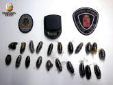 Policía Local y Guardia Civil incautan 209 gramos de hachís, destinados al tráfico de drogas