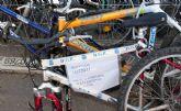 Un centanar de bicicletas se amontonan en La Asomada