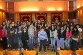 El Alcalde de Molina de Segura recibe a un grupo de alumnos franceses que se encuentran en intercambio con el I.E.S. Eduardo Linares Lumeras