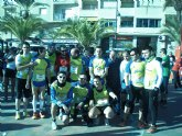 Gran papel del Club Atletismo Totana en la I Media Marat�n Bah�a de Mazarr�n