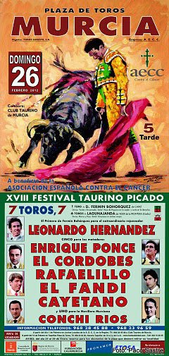 Are now on sale for the bullfight in aid of the AECC