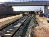 Adif inicia el montaje de vía convencional en la nueva plataforma ferroviaria entre Totana y Lorca
