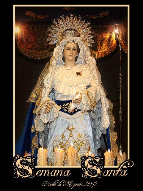 La Virgen de las Penas protagonista del cartel de Semana Santa de Puerto de Mazarrón, Foto 1
