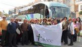 Más de 150 personas del Puerto Lumbreras acuden a la corrida de toros del XVIII Festival a beneficio de la AECC