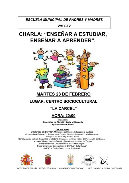 The Municipal School of Parents continues its program of educational talks tomorrow, Tuesday, 28