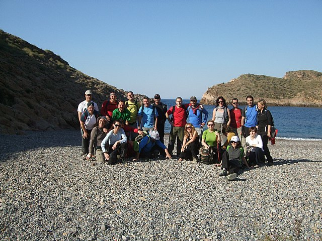 The club Totana hiker made a route from the Azohía to Cala Closed