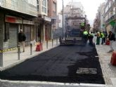 Prueban un arreglo con asfalto en la Serreta
