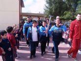 La antorcha olímpica recorre los colegios del municipio