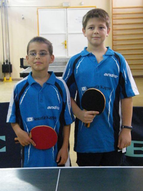 Miguel Ortiz y Manuel González consiguen el bronce por equipos en el Campeonato de España de Tenis de Mesa Alevín - 1, Foto 1
