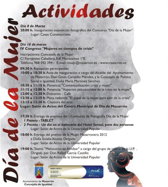 Mañana arrancan las actividades con motivo del Día de la Mujer, Foto 1