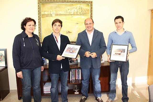 El Alcalde de Puerto Lumbreras recibe a los novilleros Cristian López y Francisco Carrillo El Torro - 1, Foto 1