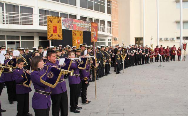 El décimo Encuentro Juvenil de Bandas de Tambores y Cornetas congregó a más de 200 músicos integrantes de bandas de la Región de Murcia y Andalucía - 2, Foto 2