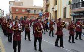 El décimo Encuentro Juvenil de Bandas de Tambores y Cornetas congregó a más de 200 músicos integrantes de bandas de la Región de Murcia y Andalucía