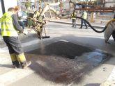 El ayuntamiento lleva a cabo un plan de choque de parcheo de calles para poner a punto las vías urbanas con motivo de la Semana Santa