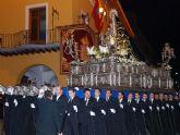 Sale la primera procesión a las calles de Alcantarilla, la del Viernes de Dolores con Nuestra Señora de los Dolores