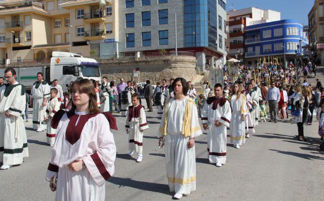 Puerto Lumbreras celebra la Procesión del Pueblo Hebreo y la Misa Domingo de Ramos - 1, Foto 1