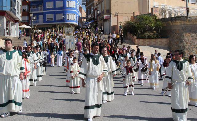 Puerto Lumbreras celebra la Procesión del Pueblo Hebreo y la Misa Domingo de Ramos - 2, Foto 2