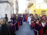 Gran éxito de participación en la Procesion infantil y juvenil del Cristo de la Misericordia de Archena