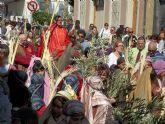 Multitudinaria procesión de las Palmas de Alguazas