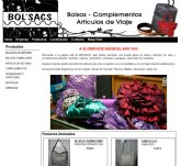 Elige el bolso, el complemento o el art�culo de viaje que desees en el cat�logo on-line que incluye la nueva p�gina web de la tienda Bolsacs