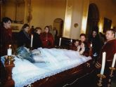 Mazarr�n vive el Viernes Santo por la noche su velatorio a Cristo