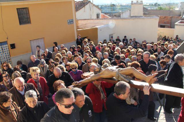 Puerto Lumbreras celebra el Vía Crucis por el casco antiguo y hasta el entorno del Castillo de Nogalte recientemente rehabilitado - 2, Foto 2
