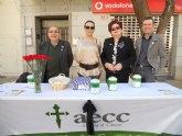 La Junta Local de Totana de la AECC recauda 2.883 euros en la cuestación realizada el pasado Domingo de Ramos