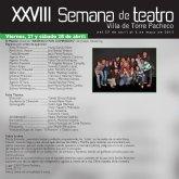 Presentación de la XXVIII Semana de Teatro de Torre-Pacheco