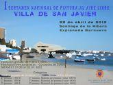 El paisaje marítimo de Santiago de la Ribera tema obligado del I Certamen de Pintura al Aire Libre que se realiza el domingo