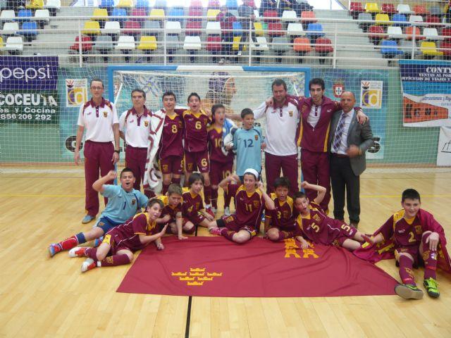 2 mazarroneros se proclaman campeones de España de Fútbol Sala con la Selección Murciana Cadete - 1, Foto 1