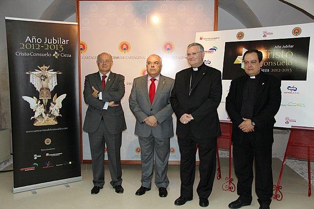 La Diócesis de Cartagena presenta el Año Jubilar concedido con motivo del IV centenario de la imagen del Stmo. Cristo del Consuelo de Cieza - 1, Foto 1