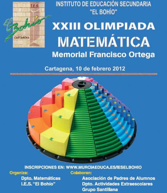 Clausura y entrega de premios de la XXIII Olimpiada Matemática Memorial Francisco Ortega - 1, Foto 1