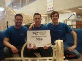 La Universidad de Murcia se impone en el concurso de puentes construidos con palos de helado