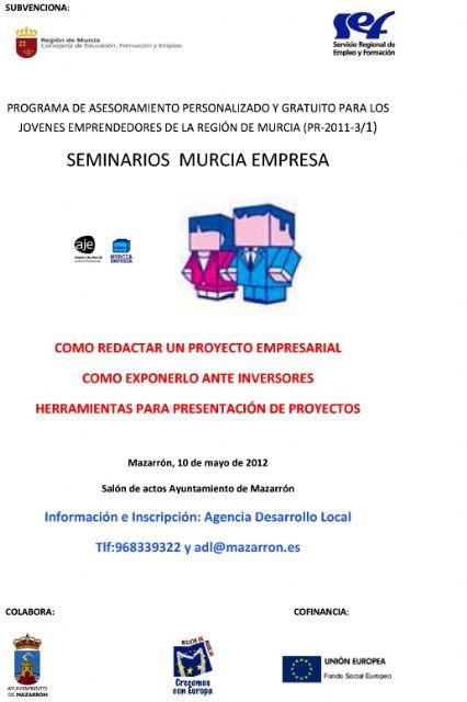Este jueves 10 tiene lugar un seminario sobre la creación y presentación de proyectos empresariales - 1, Foto 1