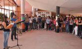 Alumnos del IES Rambla de Nogalte de Puerto Lumbreras recuerdan a las víctimas del terremoto de Lorca
