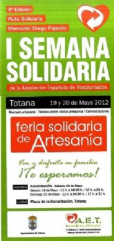 La 'I Semana Solidaria' de la Asociación Española de Transplantados finaliza este fin de semana con un mercado artesano en la Plaza de la Constitución