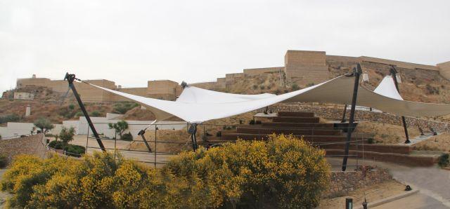 En marcha la creación de una nueva zona cubierta con anfiteatro y más de 500 metros de sombraje en el entorno del Castillo de Nogalte - 1, Foto 1