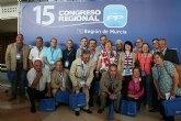 El PP de Totana estuvo presente con 29 compromisarios y uno de NNGG en el XV Congreso regional del pasado sábado