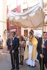 Mons. Lorca Planes preside el traslado de la Virgen de la Arrixaca a la parroquia de San Andrés